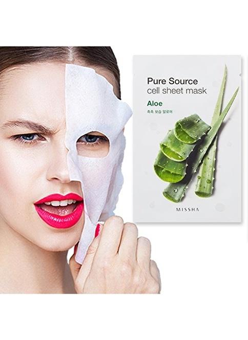 Missha Pure Source Cell Sheet Mask (Aloe) Renksiz